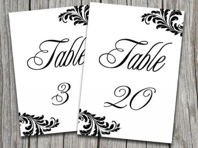 Table Number Template Word Victorian Wedding Victorian Wedding Table Number