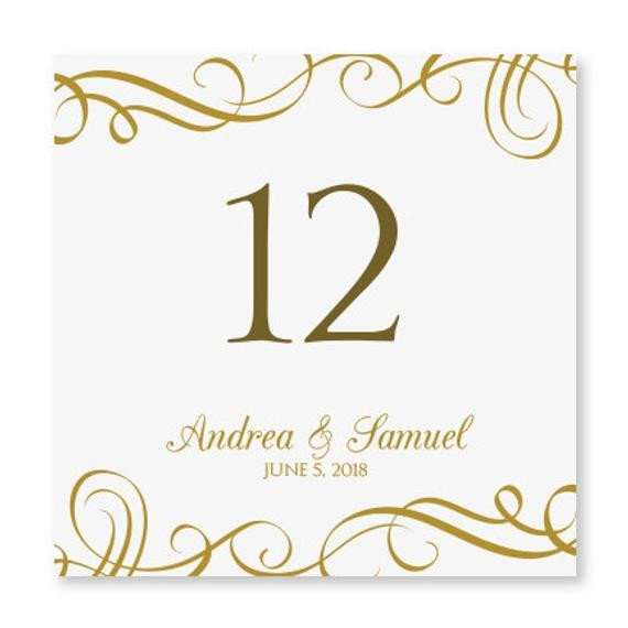 Table Number Template Word Wedding Table Number Card Template Instant by Karmakweddings