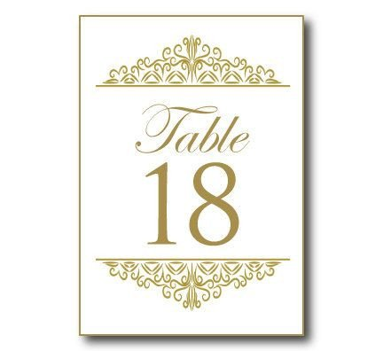 Table Number Template Word Wedding Table Number Template Word Need Table Numbers