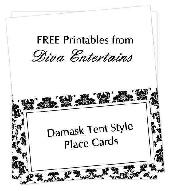 Table Tent Cards Template Free Free Printable Table Tent Card Template