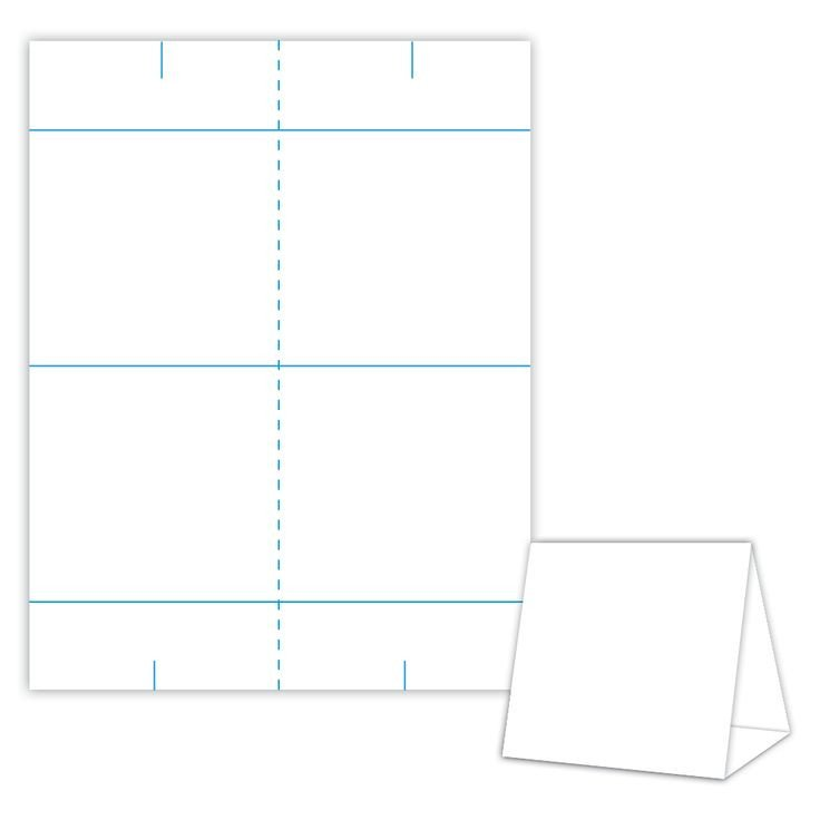 Table Tent Cards Template Free Table Tent Design Template Blank Table Tent White