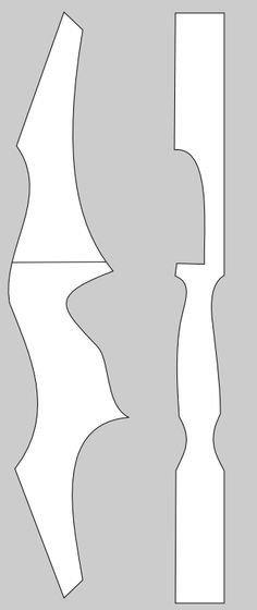 Takedown Bow Riser Template Guia Do Arqueiro Tiro Arco Projeto De Riser