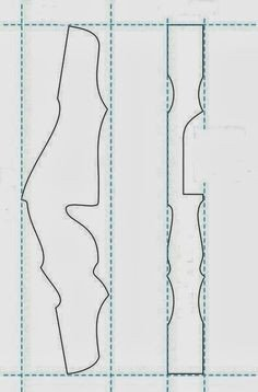 Takedown Bow Riser Template Plans Template for the Riser Of Yoshinok S Bow