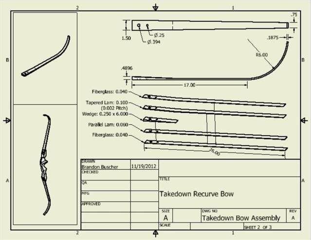 Takedown Bow Riser Template Takedown Design Bows & Arrows