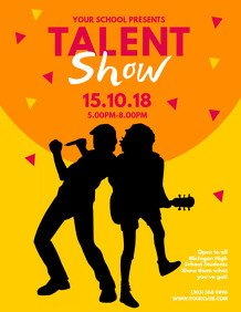 Talent Show Flyer Template 1 280 Customizable Design Templates for Talent Show