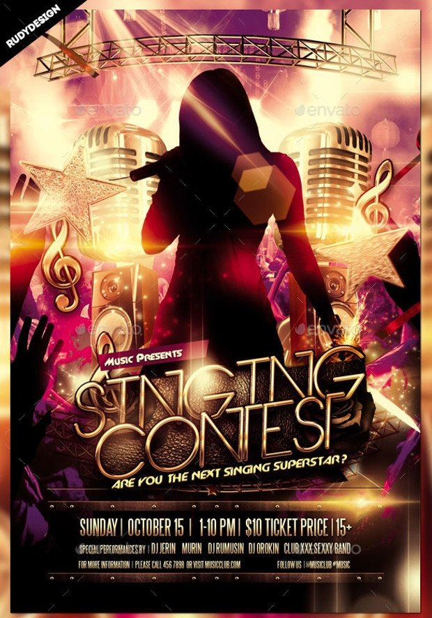 Talent Show Flyer Template 25 Talent Show Flyer Templates Word Psd Ai Eps