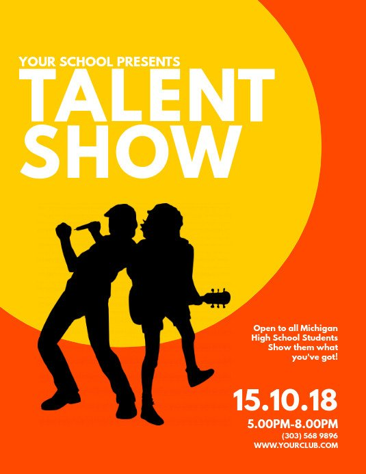 Talent Show Flyer Template Copy Of Talent Show Flyer Template
