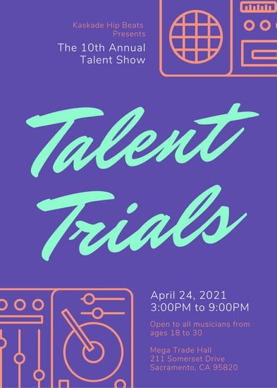Talent Show Flyer Template Customize 69 Talent Show Flyer Templates Online Canva
