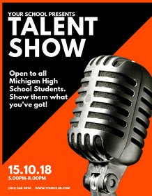 Talent Show Flyer Template event Flyer Templates
