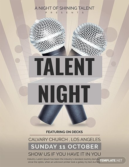 Talent Show Flyer Template Free Talent Show Flyer Template Download 641 Flyers In