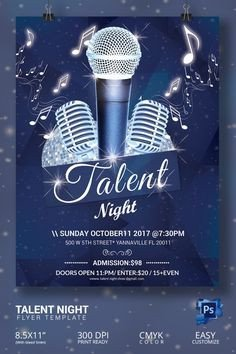 Talent Show Flyer Template Talent Show Flyer Template Cliparts