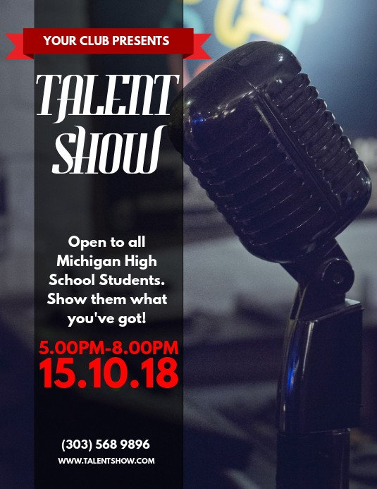 Talent Show Flyer Template Talent Show Flyer Template