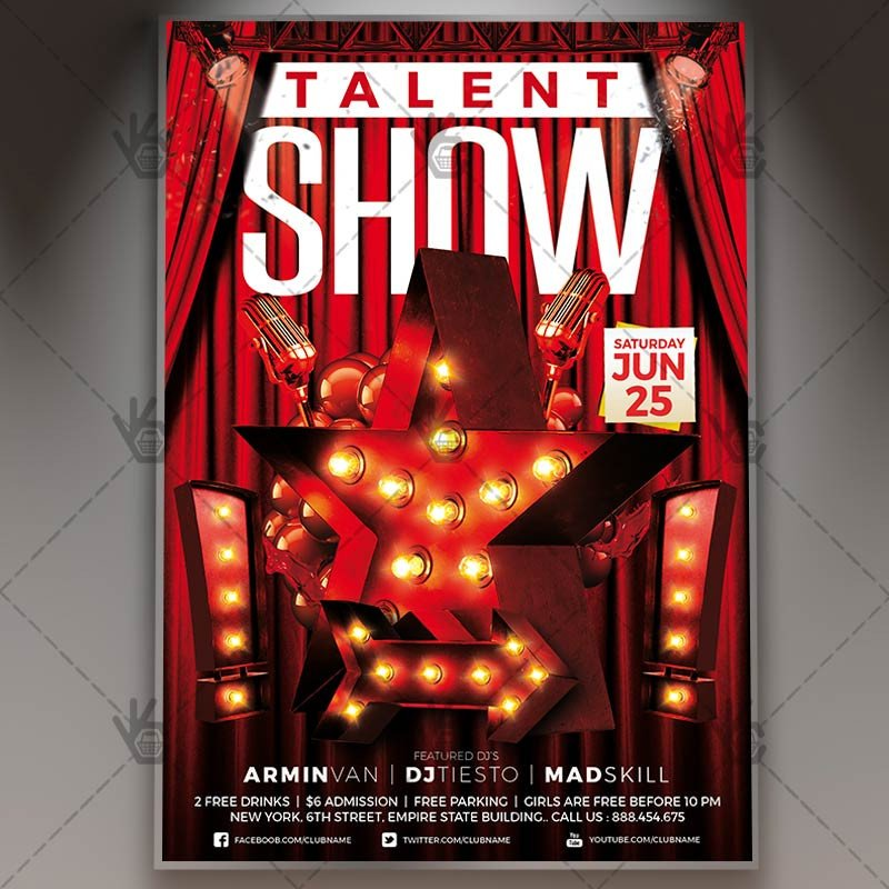 Talent Show Flyer Template Talent Show Premium Flyer Psd Template