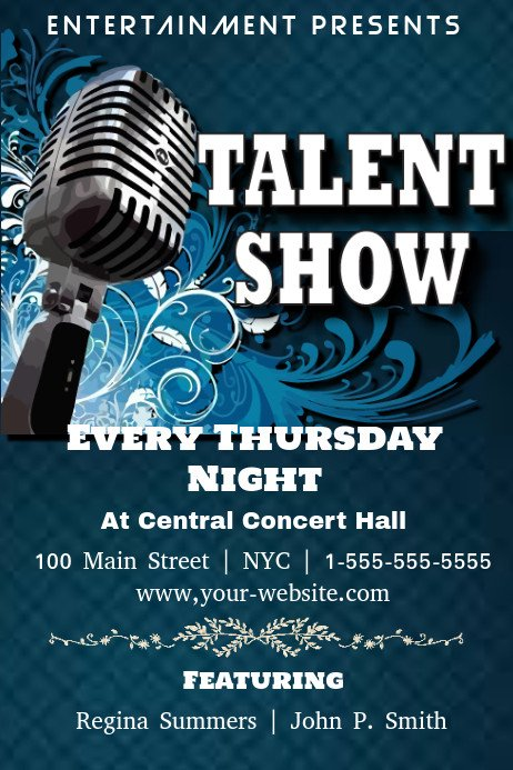 Talent Show Flyer Template Talent Show Template