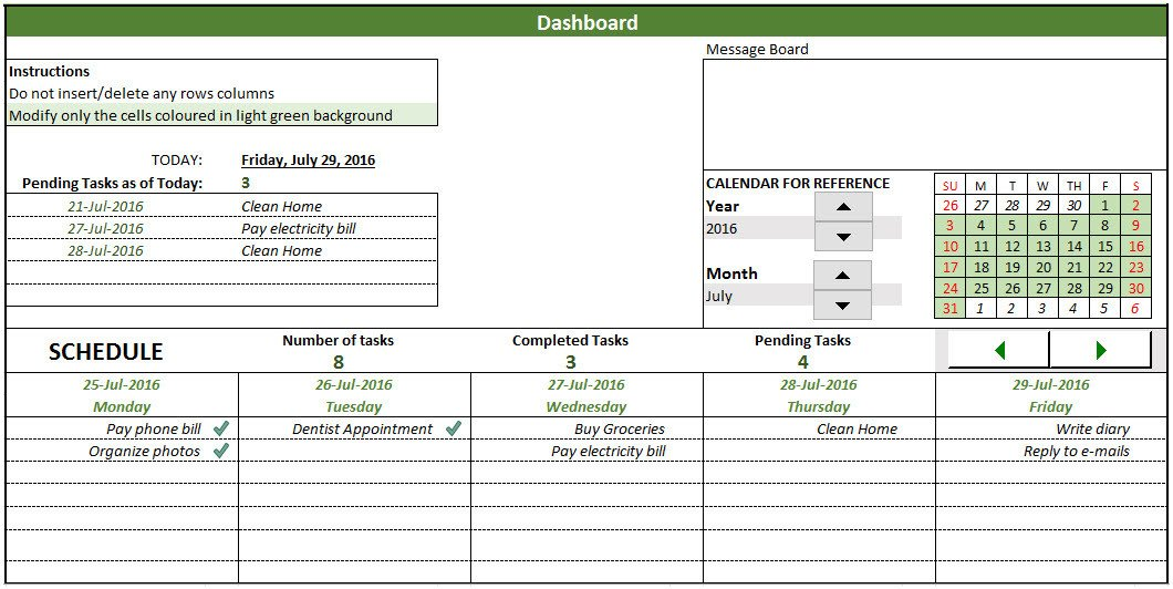 Task Checklist Template Excel Free to Do List Template In Excel to Create & Manage Tasks