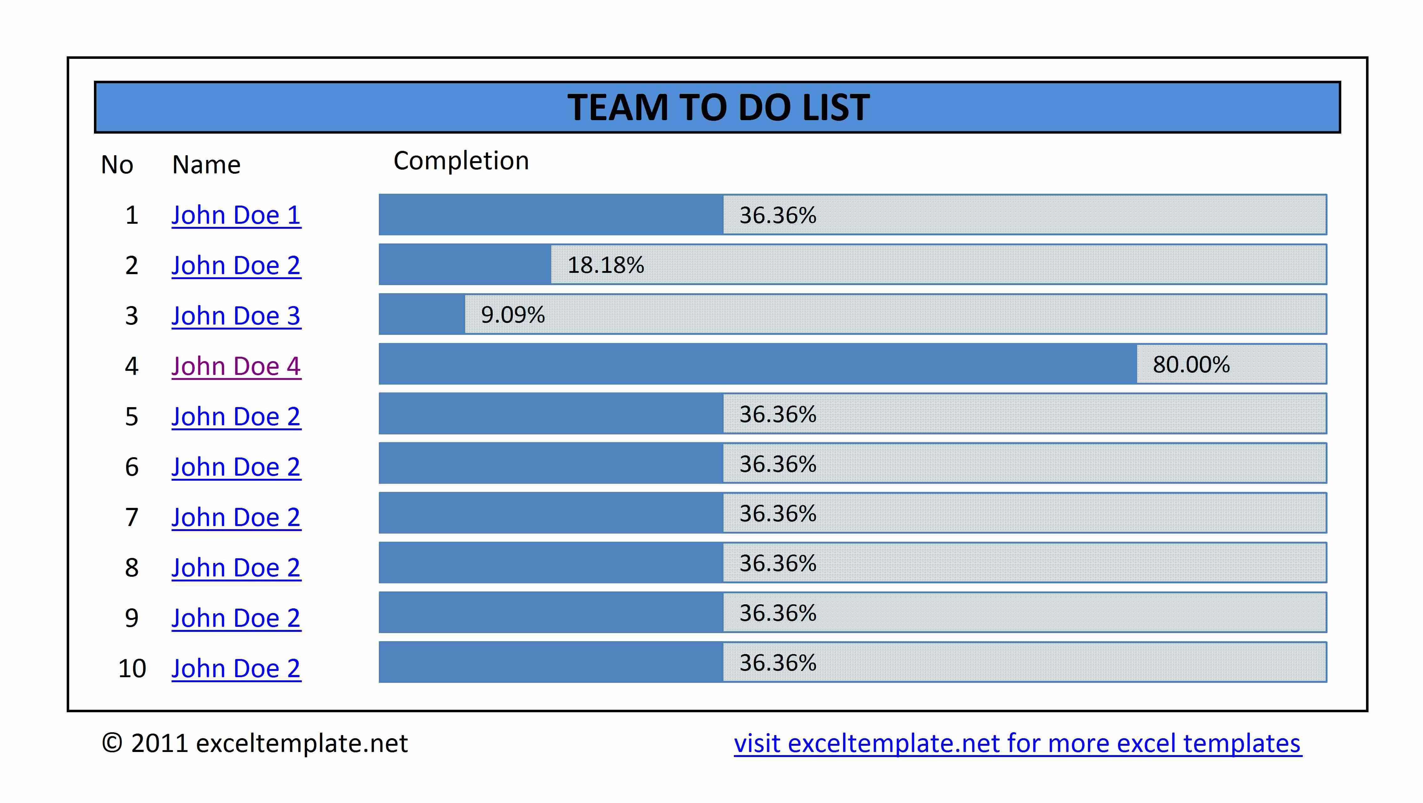 Task Checklist Template Excel Simple to Do List