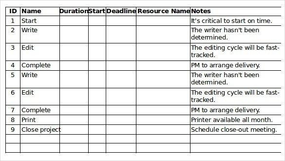 Task Checklist Template Excel Task Checklist Template Excel