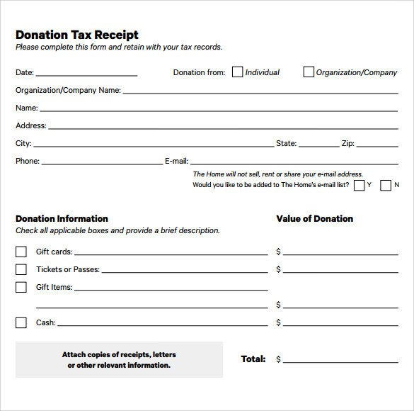 Tax Donation form Template 20 Donation Receipt Templates Pdf Word Excel Pages