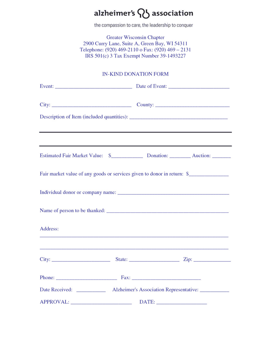 Tax Donation form Template 36 Free Donation form Templates In Word Excel Pdf