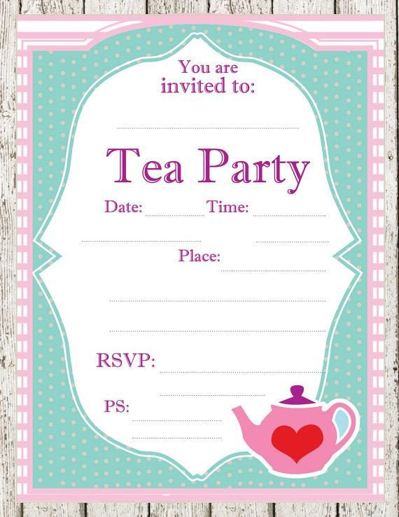 Tea Party Invitation Template 12 Cool Mad Hatter Tea Party Invitations