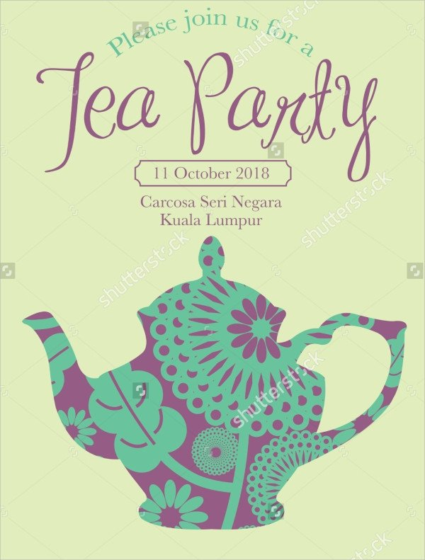 Tea Party Invitation Template 22 Sample Tea Party Invitations Word Psd Ai