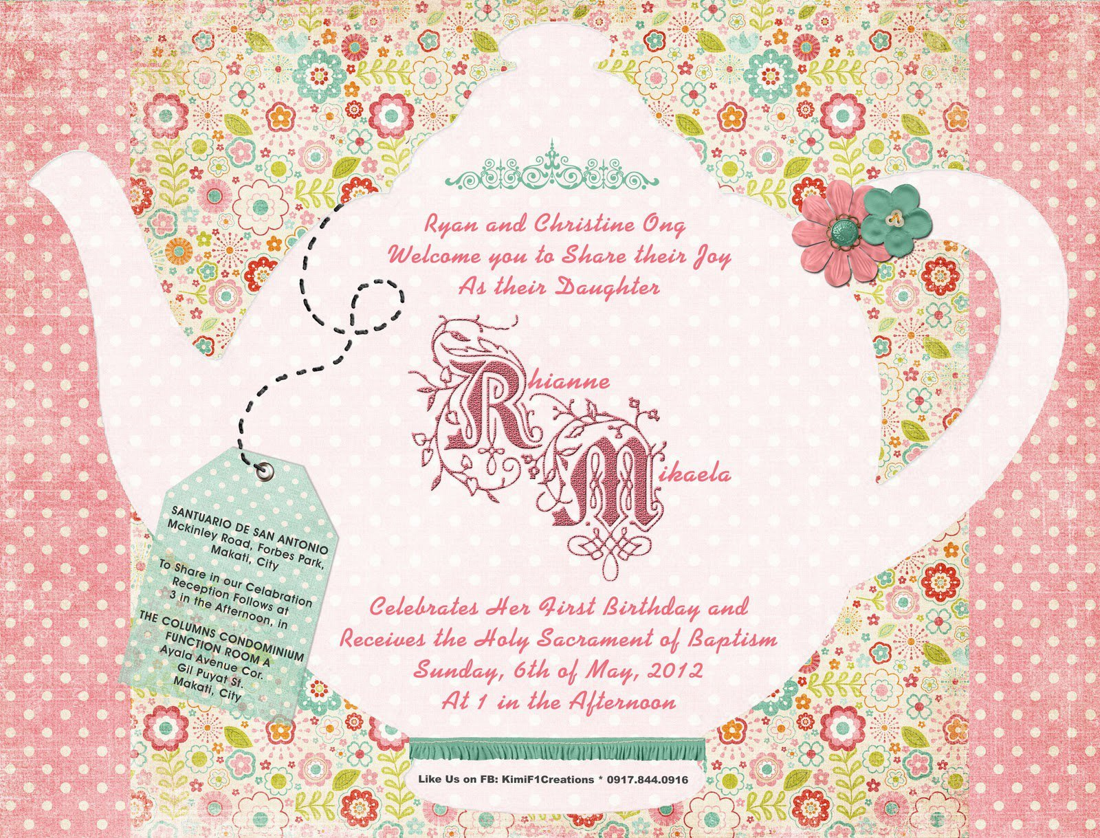 Tea Party Invitation Template Girls Tea Party Invitation Wording