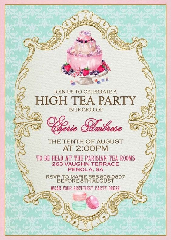 Tea Party Invitation Template High Tea Invitation Template Invitation Templates J9tztmxz