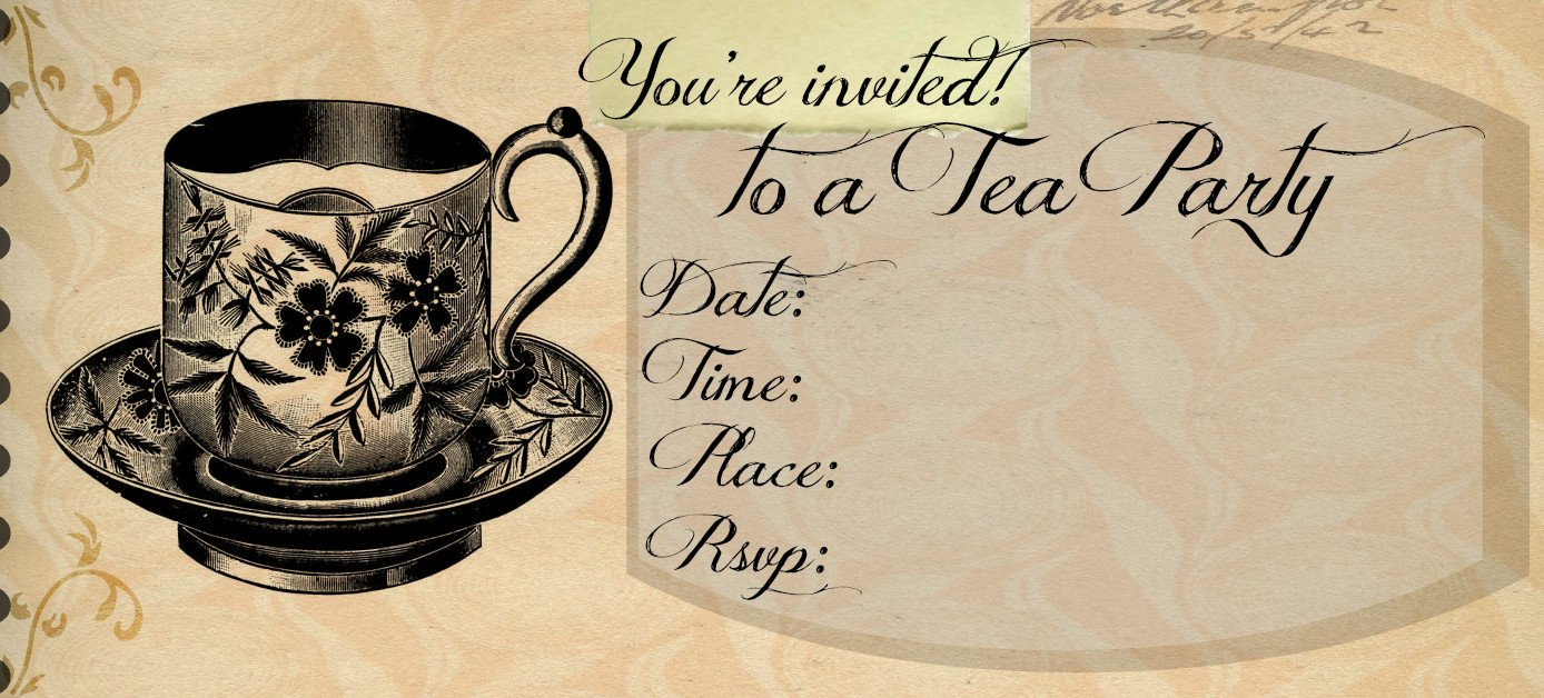Tea Party Invitation Template Outlaw Home Tea Party Invitation Template
