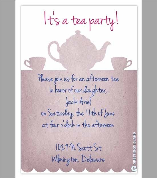 Tea Party Invitation Template Party Invitation Template Download In Psd Pdf