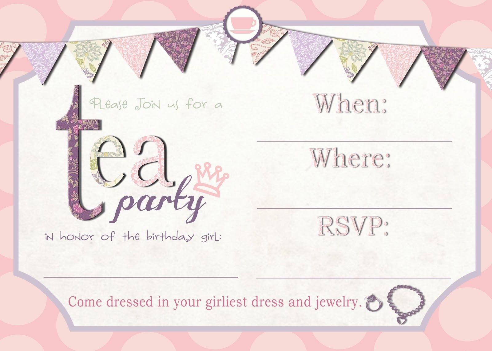 Tea Party Invitation Template Tea Party Invitation Template Download – Invitetown