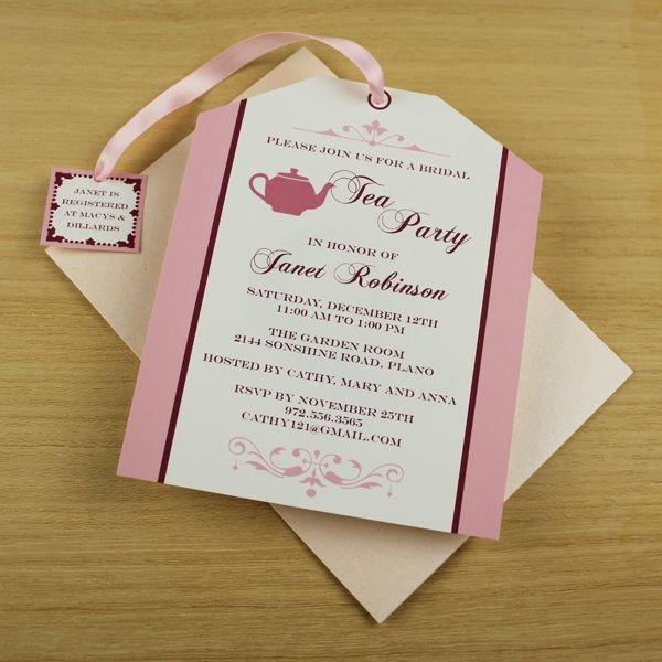 Tea Party Invitation Template Tea Party Invitation Template Tea Bag Cutout
