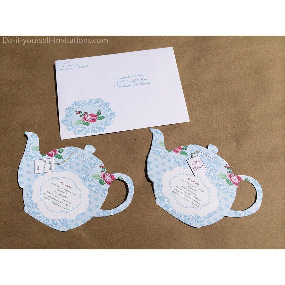 Tea Party Invitations Templates Printable Tea Party Invitation Bridal Tea Party Invitation