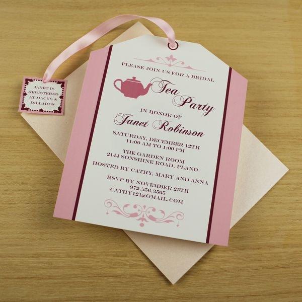 Tea Party Invitations Templates Tea Party Invitation Template Tea Bag Cutout