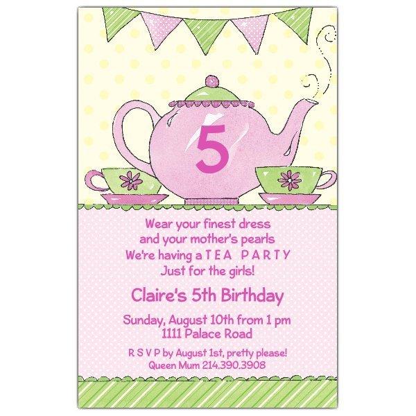 Tea Party Invitations Templates Tea Party Invitations