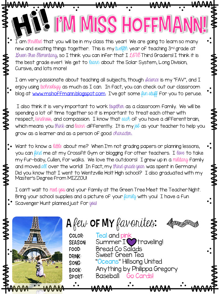 Teacher Welcome Letter Template 3 Teacher Chicks Wel E Letter to Students and Parents