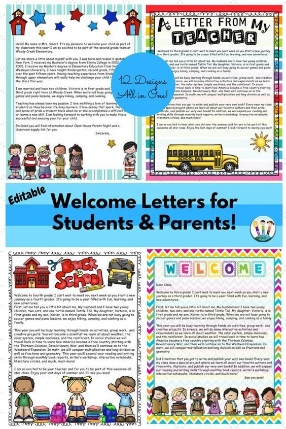 Teacher Welcome Letter Template Back to School Letters Editable Wel E Letters for