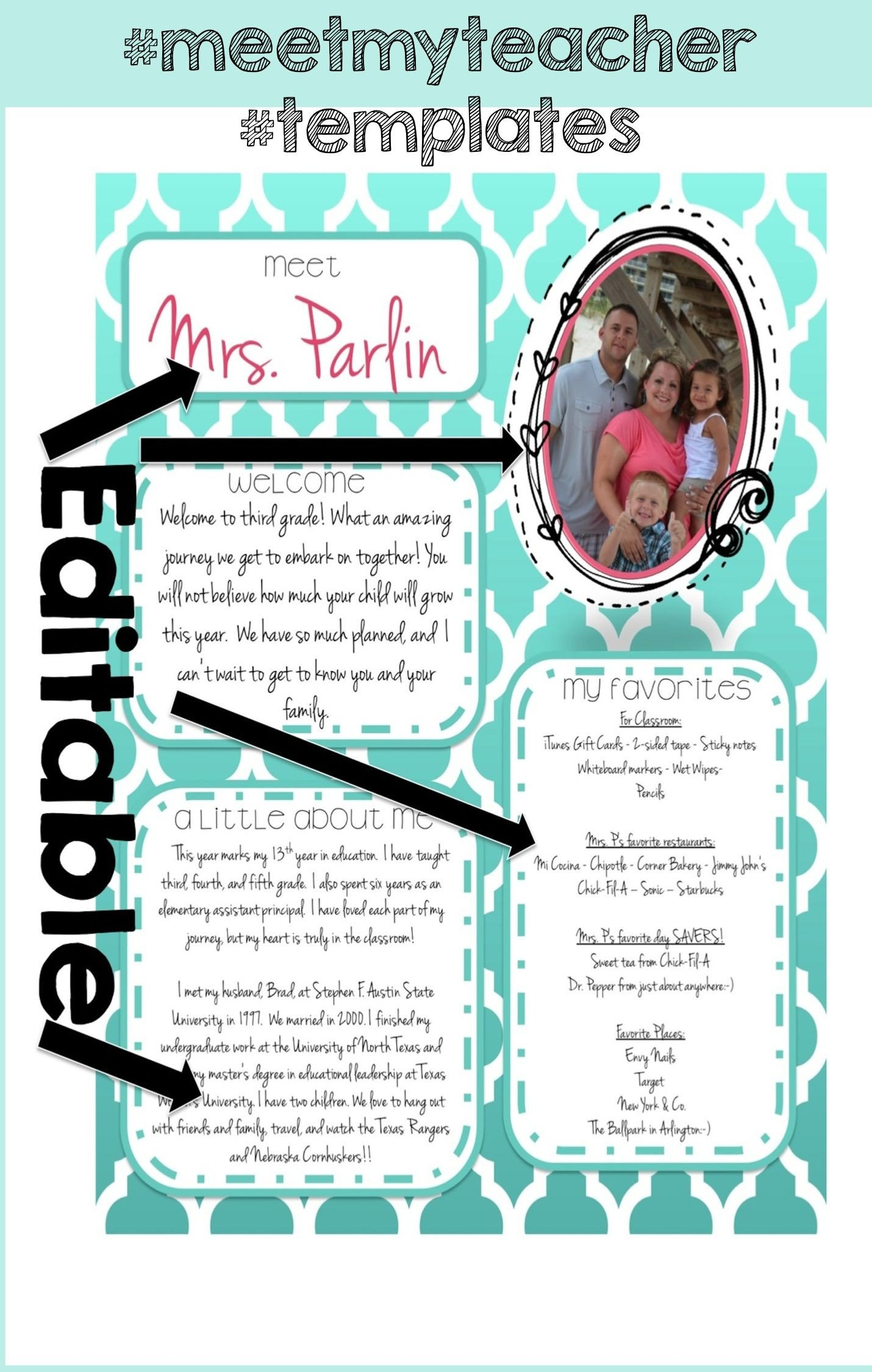Teacher Welcome Letter Template Free Templates for Teachers In Education