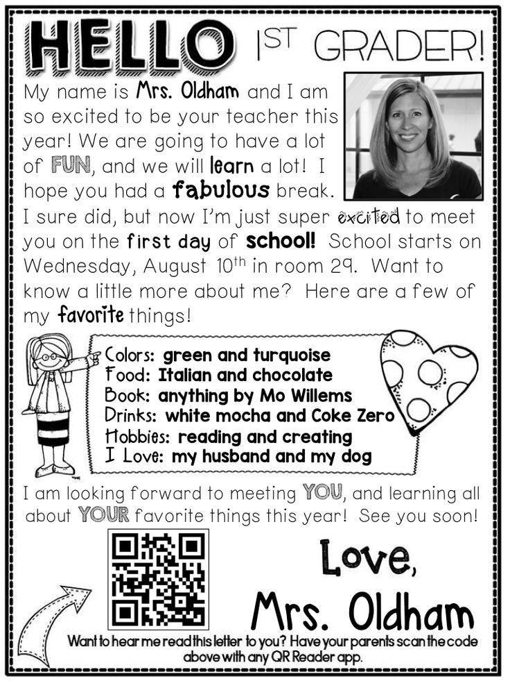 Teacher Welcome Letter Template Image Result for Kindergarten Wel E Letters
