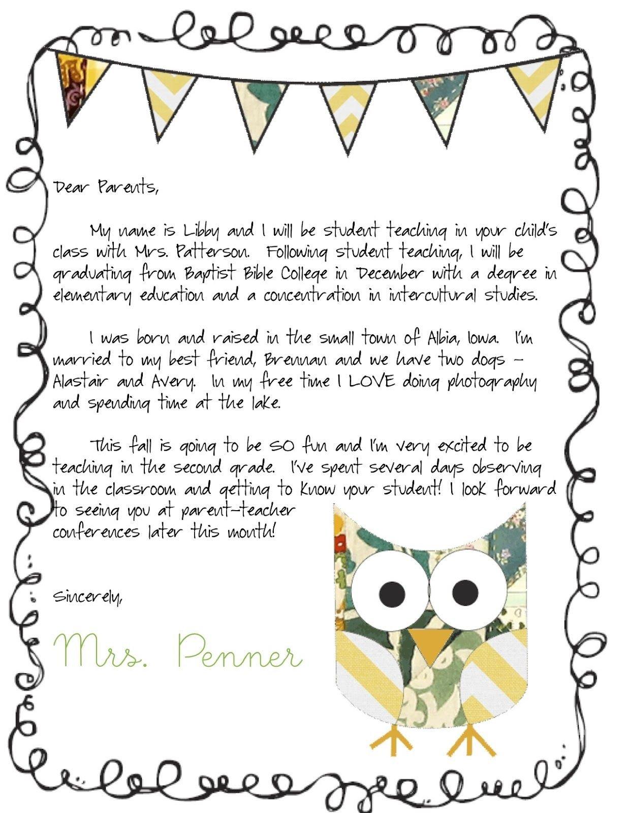Teacher Welcome Letter Template Meet the Teacher Letter Classroom Ideas
