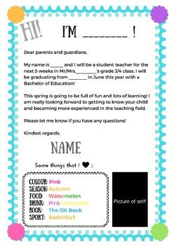 Teacher Welcome Letter Template Student Teacher Wel E Letter Example by Educators for