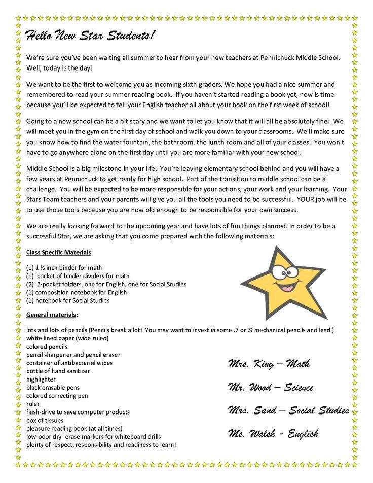 Teacher Welcome Letter Template Teacher Wel E Letter to Students
