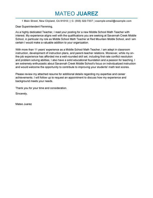 Teaching Cover Letter Template Best Teacher Cover Letter Examples