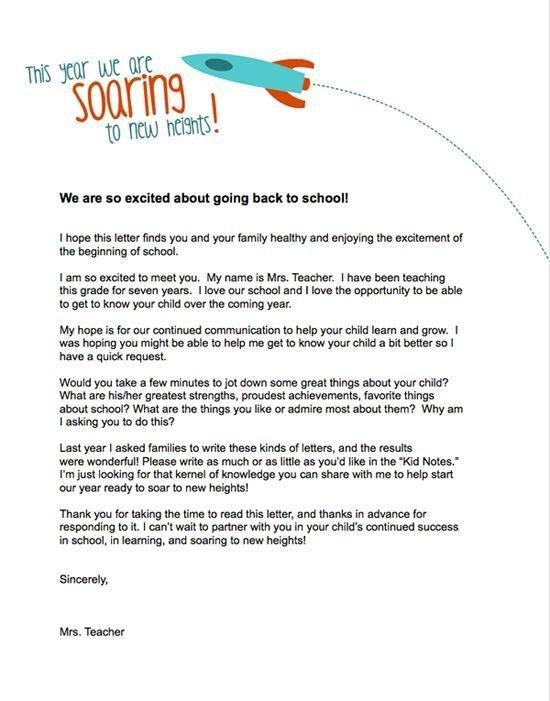 Team Mom Letter to Parents Teacher Templates Letters Parents