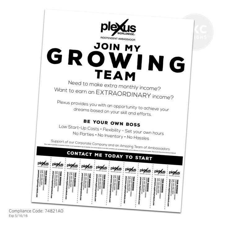 Tear Off Tab Flyer Template Plexus Business Building Flyer with Tear F Tabs