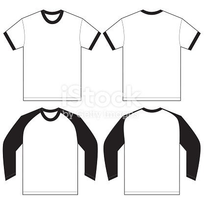 Tee Shirt Design Template Black White Ringer Tshirt Design Template Stock Vector Art