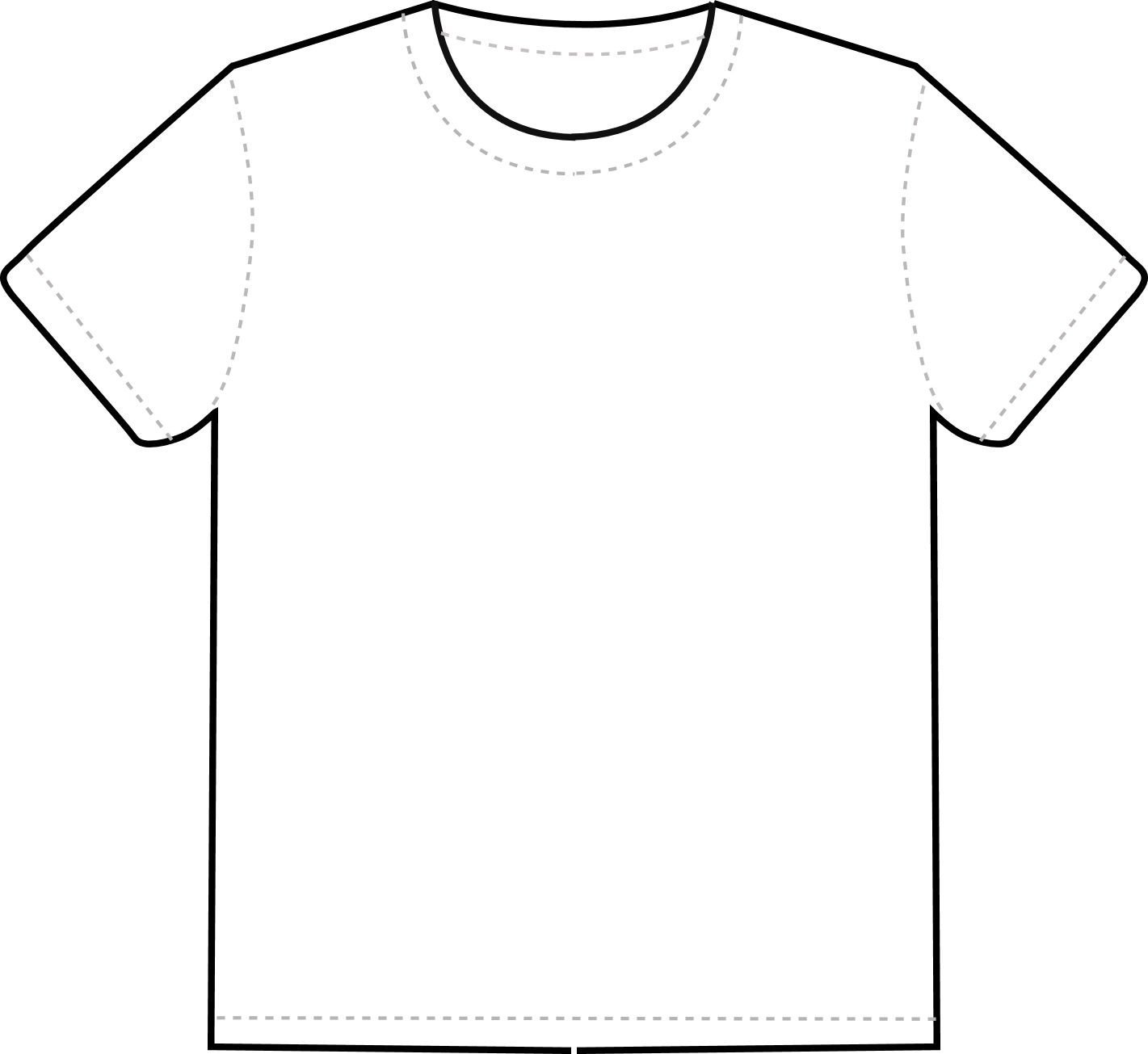 Tee Shirt Design Template T Shirt Outline Clipart Clipart Best Clipart Best
