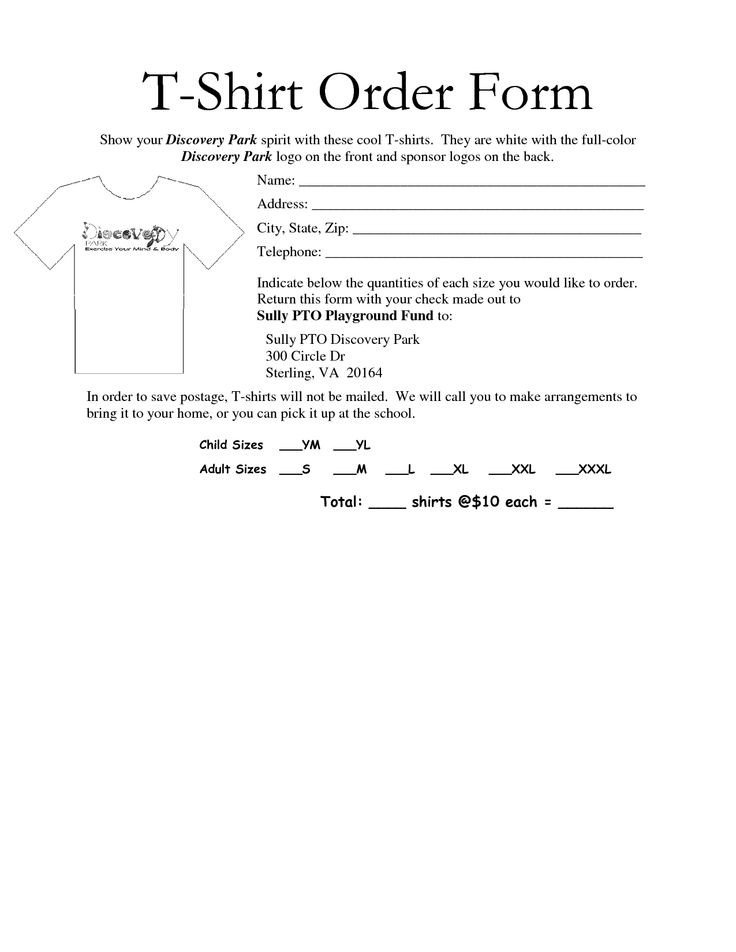 Tee Shirt order form 35 Awesome T Shirt order form Template Free Images