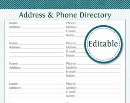 Template for Church Directory 3 Excel Church Directory Templates Excel Xlts
