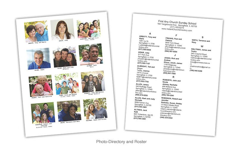 Template for Church Directory Munication Resources Inc Resources Line Store