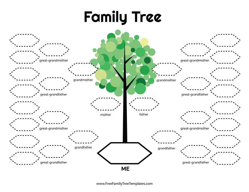 Template for Family Tree 5 Generation Family Tree Template – Free Family Tree Templates